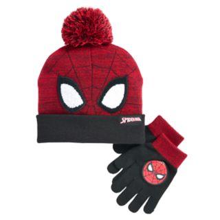 Boys 4-20 Spider-Man Hat & Gloves Set