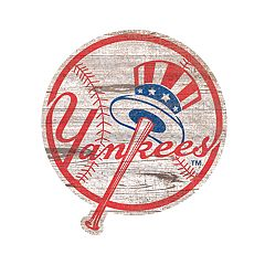 New York Yankees 24-Inch Distressed Logo Wall Art
