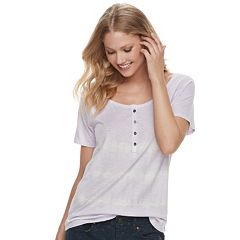 Women's SONOMA Goods for Life™ Raglan Henley Tee