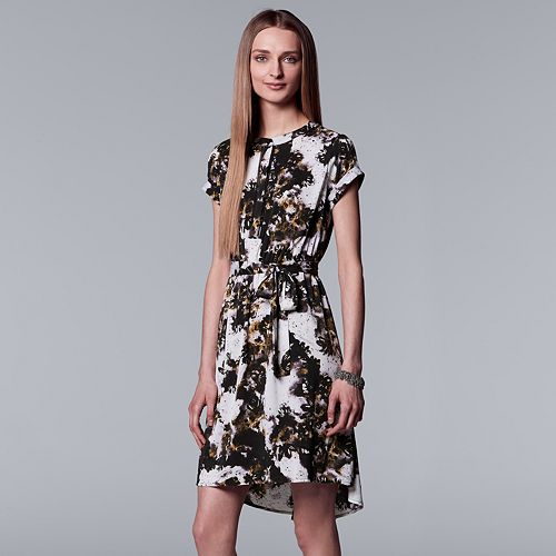 Women's Simply Vera Vera Wang Abstract High-Low Sheath Dress