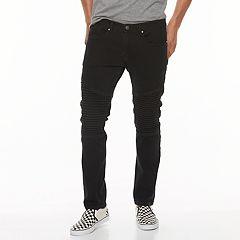 Men's RawX Slim-Fit Moto Stretch Jeans