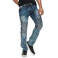 Men's RawX Slim-Fit Moto Stretch Jeans