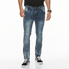 Men's XRAY Slim-Fit Washed Stretch Jeans