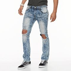 Men's XRAY Slim-Fit Distressed Stretch Jeans