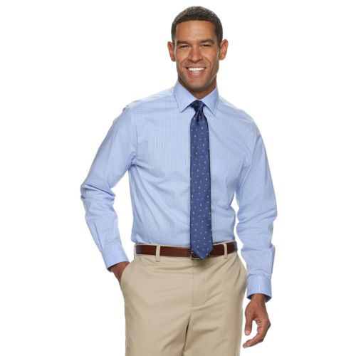 Men's Croft & Barrow® Slim Fit Non Iron Spread Collar Stretch Dress Shirt by Croft & Barrow