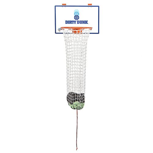 The Dirty Dunk (2nd Generation) Over-the-Door Basketball Hoop Laundry Hamper