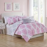 VCNY Home Love The Little Things Damask Comforter Set