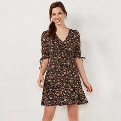 Petite LC Lauren Conrad Print Fit & Flare Dress