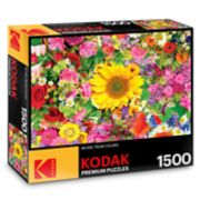 Kodak Premium Puzzles 1500-Piece Colorful Flower Bed Puzzle
