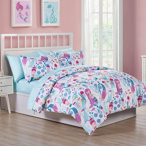 Vcny Home Ocean Dreamer Mermaid Comforter Bedding Set