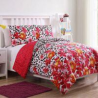 VCNY Home Nikki Floral Leopard Comforter Set