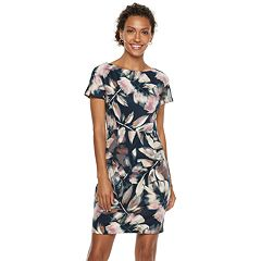 Petite Suite 7 Floral Ponte Midi Dress