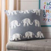 Safavieh Elliot Elephant Knit Throw Pillow