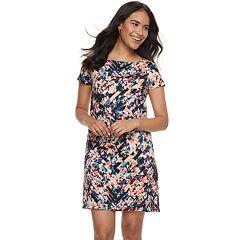 Petite Suite 7 Floral Short Sleeve Shift Dress