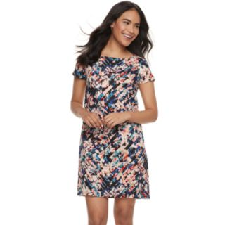 Petite Suite 7 Floral Short Sleeve Shift Dress
