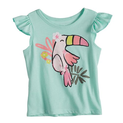 Baby Girl Jumping Beans® Toucan Flutter Top