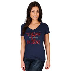 Women's Majestic Cleveland Indians Relentless Tee