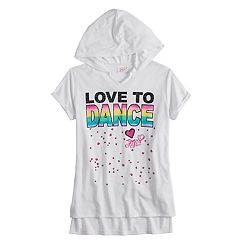 Girls 7-16 JoJo Siwa 'Love to Dance' Short Sleeve Hoodie Tunic