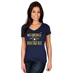 Women's Majestic Milwaukee Brewers Relentless Tee