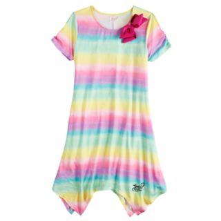 Girls 7-16 JoJo Siwa Rainbow Striped Sharkbite Hem Dress