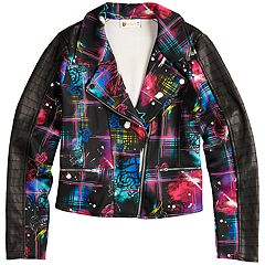 Disney's D-Signed Descendants 2 Girls 7-16 Graffiti-Print Moto Jacket