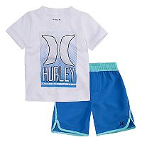 Toddler Boy Hurley Ombre Dot Graphic Tee & Shorts Set
