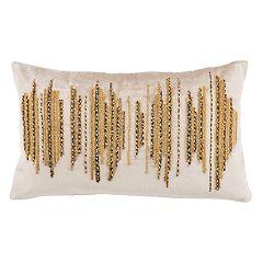 Safavieh Deston Darling Metallic Oblong Throw Pillow