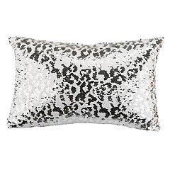 Safavieh Leopard Sequin Oblong Throw Pillow