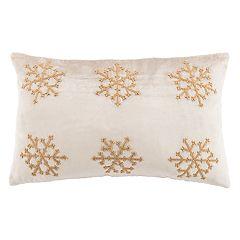 Safavieh Sydnee Snowflake Oblong Throw Pillow