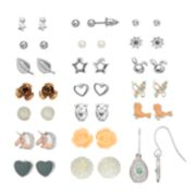 Mudd® Unicorn, Bird, Flower & Star Earring Set