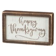 """Happy Thanksgiving"" Box Sign Art"