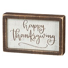 'Happy Thanksgiving' Box Sign Art
