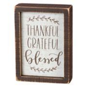"""Thankful"" Box Sign Art"