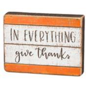 """Give Thanks"" Thanksgiving Box Sign Art"