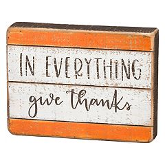 'Give Thanks' Thanksgiving Box Sign Art