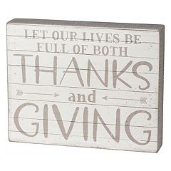 'Thanks' Thanksgiving Box Sign Art