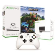 Xbox One S 500GB Minecraft Adventure Bundle with Xbox One S Controller and Play & Charge Kit