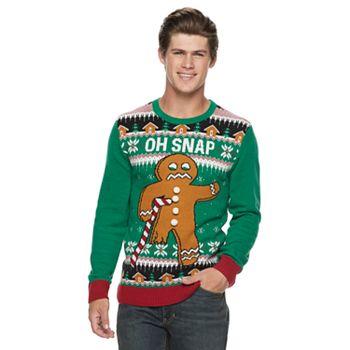mens gingerbread man christmas sweater