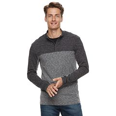 Men's Marc Anthony Regular-Fit Colorblock Quarter-Zip Pullover