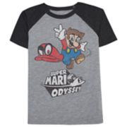 Boys 4-10 Jumping Beans® Super Mario Odyssey Raglan Graphic Tee
