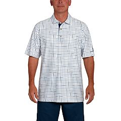 Men's Pebble Beach Classic-Fit Broken Windowpane Performance Golf Polo