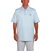 Men's Pebble Beach Classic-Fit Heathered Performance Golf Polo