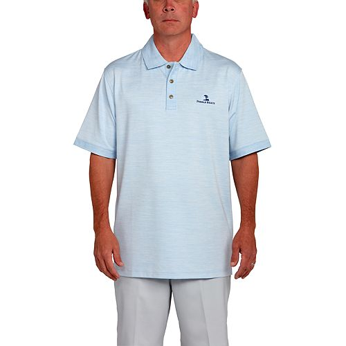 Men's Pebble Beach Classic Fit Heathered Performance Golf Polo by Pebble Beach