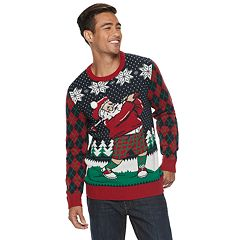 Men's Golfing Sant Christmas Sweater