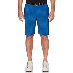 Men's Grand Slam Regular-Fit Mini-Grid Stretch Performance Golf Shorts
