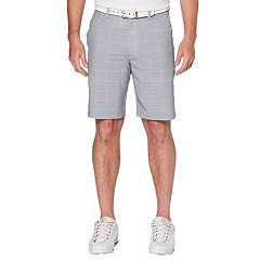 Men's Grand Slam Regular-Fit Mini-Grid Stretch Performance Golf Shorts
