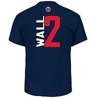 Men's Majestic Washington Wizards John Wall Name & Number Vertical Tee