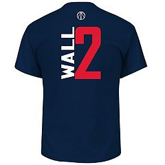 Men's Majestic Washington Wizards John Wall Name & Number Vertical Tee