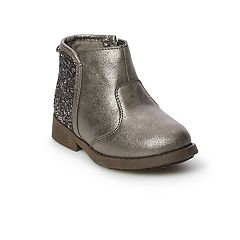 OshKosh B'gosh® Toddler Girls' Metallic Glitter Ankle Boots