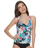 Women's Apt. 9® Floral Ruffled Halterkini Top
